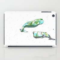 whales iPad Cases featuring Whales by Wowsujina