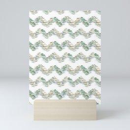 Sea Glass - Chevrons Mini Art Print
