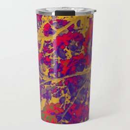 Modern Abstract Art Composition Multicolored Travel Mug