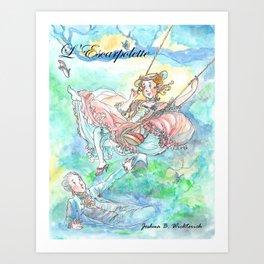 Illustration of L' Escarpolette by Joshua B. Wichterich Art Art Print