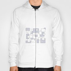 Squares - gray and white. Hoody