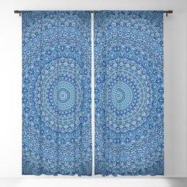 Blue Zen Mandala Blackout Curtain
