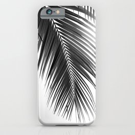 Palm Leaves Black & White Vibes #5 #tropical #decor #art #society6 iPhone Case