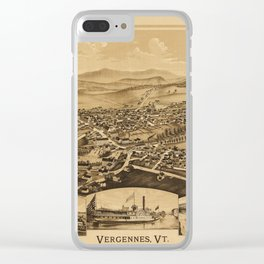 Aerial View of Vergennes, Vermont (1890) Clear iPhone Case