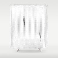 dots Shower Curtains featuring Dots by rob art | simple