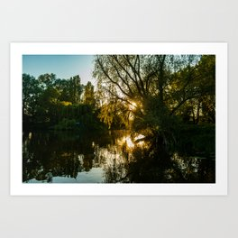 River Great Ouse from a boat Art Print