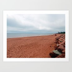 Red Sands Beach in PEI Art Print