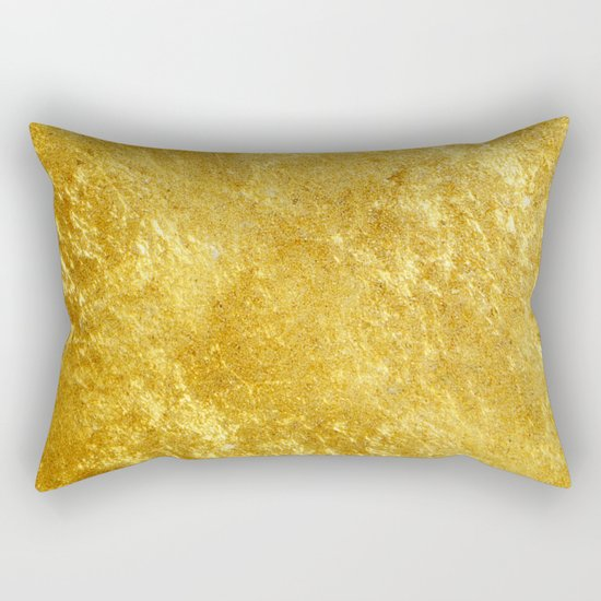 Golden Texture #lifestyle #society6 Rectangular Pillow