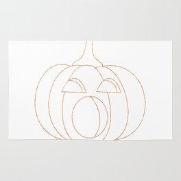 Jack-O-Lantern Glitter Outline Rug