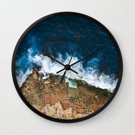 An aerial shot of the Salt Pans in Marsaskala Malta Wall Clock