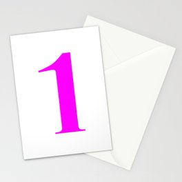 1 (FUCHSIA & WHITE NUMBERS) Stationery Cards