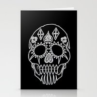 led zeppelin Stationery Cards featuring LED Skull by Max Wellsman