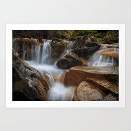 Melincourt Brook cascade Art Print