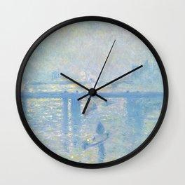 1899-Claude Monet-Charing Cross Bridge-65 x 80 Wall Clock