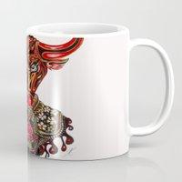 taurus Mugs featuring Taurus  by Felicia Atanasiu