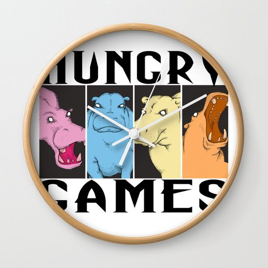 Hungry Hippo Games Wall Clock