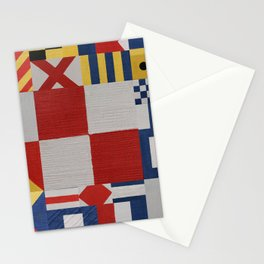 The Nautical Flag Signals Stationery Cards