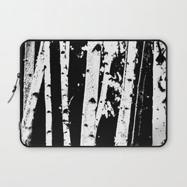 Black and White Birch Trees Fade Out Laptop Sleeve