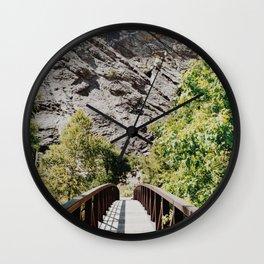 Bridge to the Mountains Wall Clock