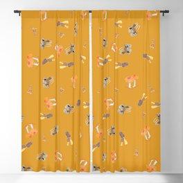 Mushroom Pattern - Mustard Blackout Curtain