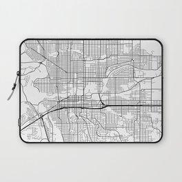 Spokane Map, USA - Black and White Laptop Sleeve