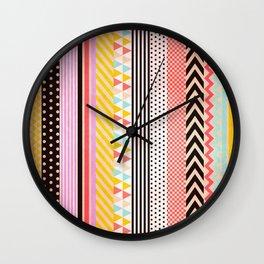 Washi Tape Wall Clock