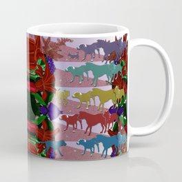 Dogs and Flowers Coffee Mug