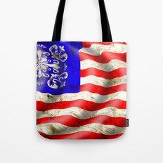 A wavy American flag Tote Bag