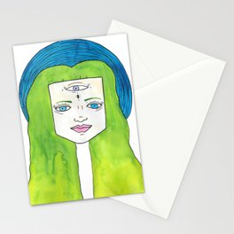 third eye moon Stationery Cards