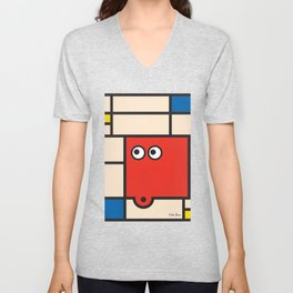 Ooh Zoo – art-series, Mondrian Unisex V-Neck