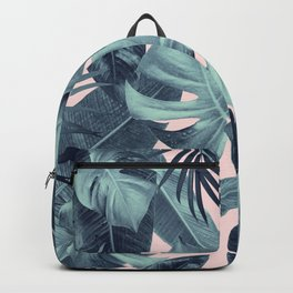Tropical Summer Jungle Leaves Dream #3 #tropical #decor #art #society6 Backpack