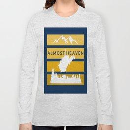 Almost Heaven West Virginia Retro Nature Print Long Sleeve T-shirt