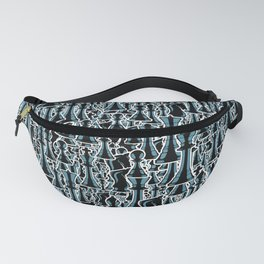 Chess Pattern II BLACK Fanny Pack