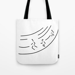 long distance metre run athletics marathon Tote Bag