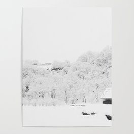 Winter Forest (Black and White) Poster