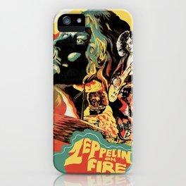 Zeppelin on Fire iPhone Case