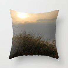 Sunrise macro Throw Pillow