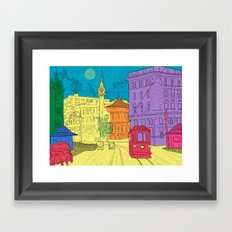 old city Framed Art Print