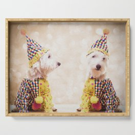 Circus Clown Dogs Serving Tray