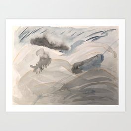 Abstract Stormy Alpine Landscape Art Print