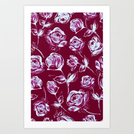 Rose Patches Art Print