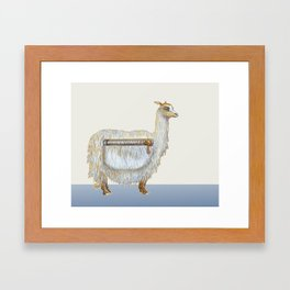 Pack Alpaca Framed Art Print