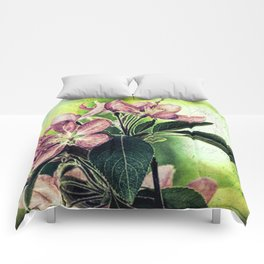 Rustic Dark Pink Flowers Modern Cottage Chic Country Art A139 Comforters