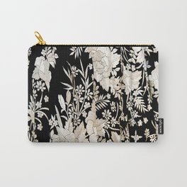 Black and White Flowers by Lika Ramati Carry-All Pouch