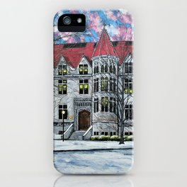 Kent Hall at University of Chicago by Mike Kraus - art UChicago Hyde Park Illinois Midwest College iPhone Case