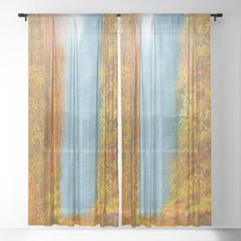 Colorful Woodlands Sheer Curtain