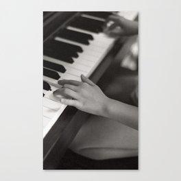 petite fille au piano, june 2018 Canvas Print