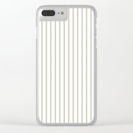 Silver Moss Pinstripe on White Clear iPhone Case