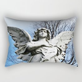 Angel Looking Skyward  Rectangular Pillow