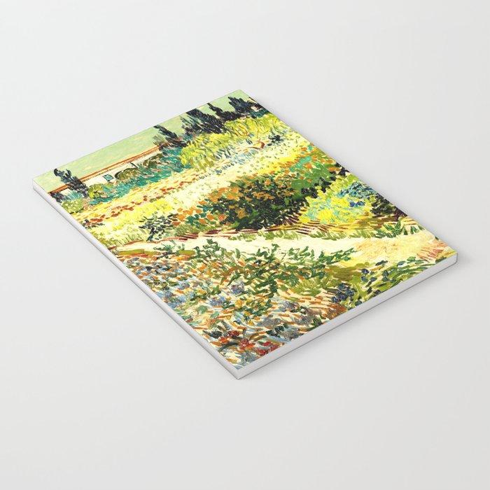 Vincent van Gogh Garden at Arles Notebook